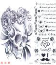 薇嘉雅       大圖經典圖案紋身貼紙 - 骷簍頭 (MQT018)