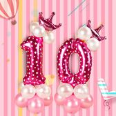 【2枚入】生日佈置寶寶周歲百天數字氣球裝飾路引派對布置氣球立柱【奇趣小屋】