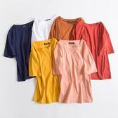 夏季寬松顯瘦短袖女裝T恤純色2019新款韓版ulzzang薄款學生上衣