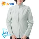 UV100 防曬 抗UV-涼感造型立領修身外套-女