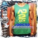 ADDICTED巴塞隆納2號寬肩健身男背心 激凸性感 猛男必備  MT0104
