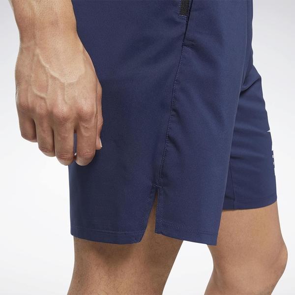 REEBOK EPIC LIGHTWEIGHT 男裝 短褲 訓練 排汗 透氣 抽繩 拉鍊口袋 藍【運動世界】FU2898