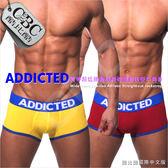 ADDICTED寬帶超低腰動感純棉運動後空男平角褲 JS0005