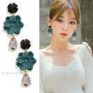 925純銀針  韓國優雅氣質 浪漫花朵 ...