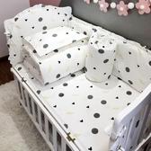 嬰兒床床圍純棉可拆洗透氣床圍寶寶BB床圍床品套件防撞5件套定做 後街五號