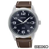 SEIKO精工  帥氣型男太陽能石英腕錶 SNE475P1