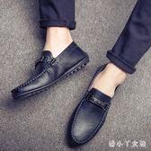 夏季豆豆鞋2018新款男士套腳潮鞋休閒男鞋 XW1779【潘小丫女鞋】