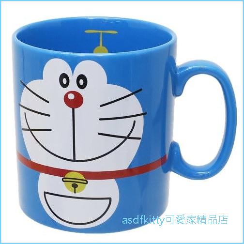 asdfkitty可愛家☆日本金正陶器 哆啦A夢大容量陶瓷馬克杯-可微波-500cc-日本製