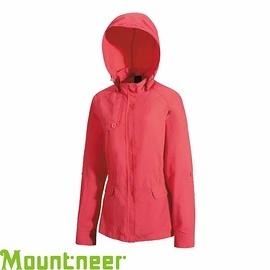 【Mountneer 山林 女 抗UV休閒外套 珊瑚紅】21J08/休閒外套/防曬外套