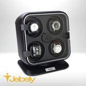 【Jebely】機械手錶自動上鍊盒 氣勢磅薄 JBW105 時尚黑 四手錶轉台 動力儲存錶機 台灣製