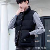 馬甲男秋冬季韓版潮流帥氣情侶款棉衣坎肩寬鬆大碼羽絨棉馬甲外套 千惠衣屋