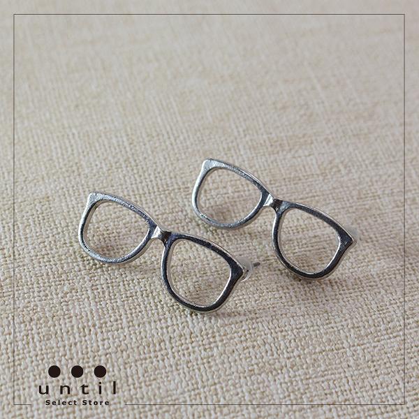 眼鏡女孩~鏡框金屬耳環35mm-until-741011
