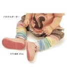 童裝 現貨 A012日單粉彩條可愛襪套【A012】