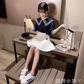 女童套裝2021新款夏季小女孩洋氣韓版兒童短袖短裙網紅學院風套裙 蘿莉新品