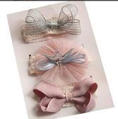 女寶寶公主皇冠蝴蝶結發帶禮盒兒童發飾套裝新生嬰兒發箍滿月禮物 K-shoes