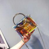 手提包 透明上新款小包包女新品新款潮液體果凍包仙女韓式百搭斜背包女 最後一天85折