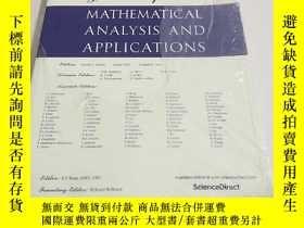 二手書博民逛書店【外文雜誌】Journal罕見of Mathematical Analysis and Applications