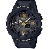 BABY-G BGA-230少女時代帥氣中性風腕錶-黑+金(BGA-230-1B)