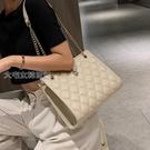托特包女流行小包包女包網紅新款潮時尚鍊條菱格斜挎包百搭單肩托特包 快速出貨