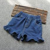 女童牛仔短褲 小中大童褲子純棉兒童熱褲