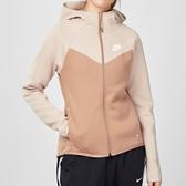Nike Sportswear Windrunner Tech Fleece 女子 粉膚色 拉鍊 連帽 外套 BV3456-283