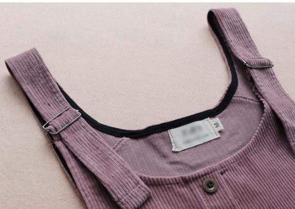 ☆ 莎lala【 K111199 】韓系直筒吊帶裙-(現)燈芯絨背心裙(SIZE:M)