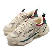 Fila 休閒鞋 Skipper 米白 灰 女鞋 奶茶色 老爹鞋 復古慢跑鞋 運動鞋 【PUMP306】 4J528U940