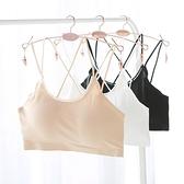 抹胸女美背裹胸內衣打底夏季冰絲無鋼圈運動薄款帶胸墊防走光文胸
