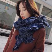 現貨-韓版經典格子仿羊絨圍巾男女秋冬季百搭冬天披肩兩用加厚保暖圍脖