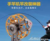 金屬漁輪帶泄力超輕前打輪磯竿冰釣輪漁線輪釣飛釣輪    蜜拉貝爾