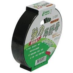 【奇奇文具】北極熊 CLT2415B黑色布紋膠帶24mm×15yds