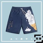 速干沙灘褲游泳褲男士泳衣大碼寬鬆款五分短褲防尷尬【左岸男裝】