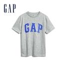 Gap男童 Logo亮片棉質圓領短袖T恤 573679-亮麻灰色