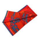 【HERMES】Della Cavalleria圖騰絲巾90x90(藍/紅/橘) HE75000091