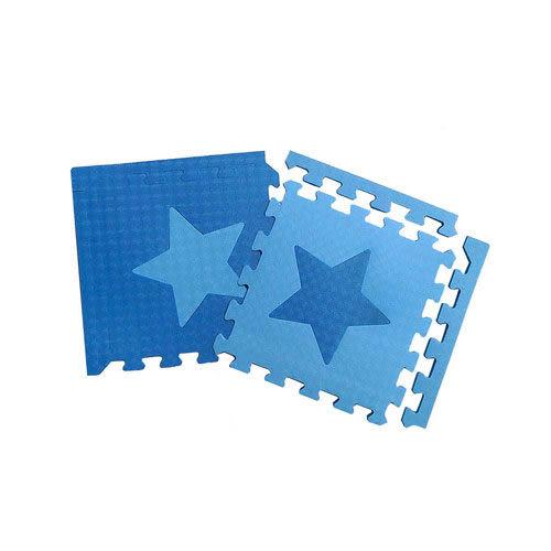 【新生活家】EVA星星巧拼地墊附邊條(32入)