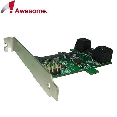 Awesome PCI/PCIe槽SATA 1轉5 Port Multiplier擴充卡-AWD-ST-172A