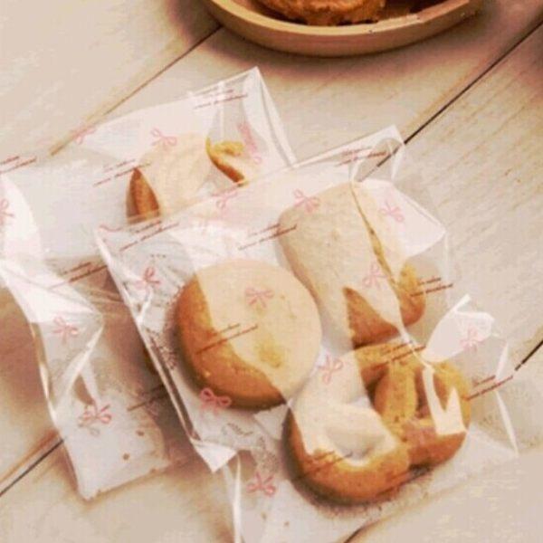 95入 蕾絲蝴蝶結 自黏袋 塑膠袋 包裝袋【D018】