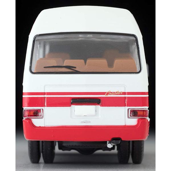 TOMYTEC LV-184b 豐田 Coaster High Roof Deluxe Car 白/紅_TV30224