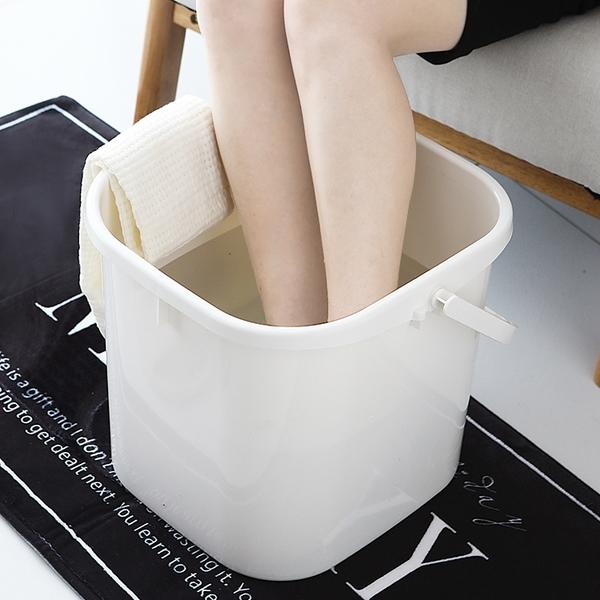 日式泡腳桶塑料家用加高加厚泡腳盆便攜高深桶洗腳桶足浴盆學生
