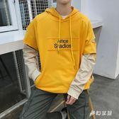 中大尺碼長袖連帽t恤男韓版潮流休閒寬鬆外衣sd3371『夢幻家居』