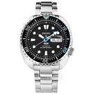 SEIKO 精工 / 4R36-06Z0I.SRPG19K1 / PROSPEX PADI 聯名款 海龜 潛水錶 機械錶 不鏽鋼手錶 黑色 45mm