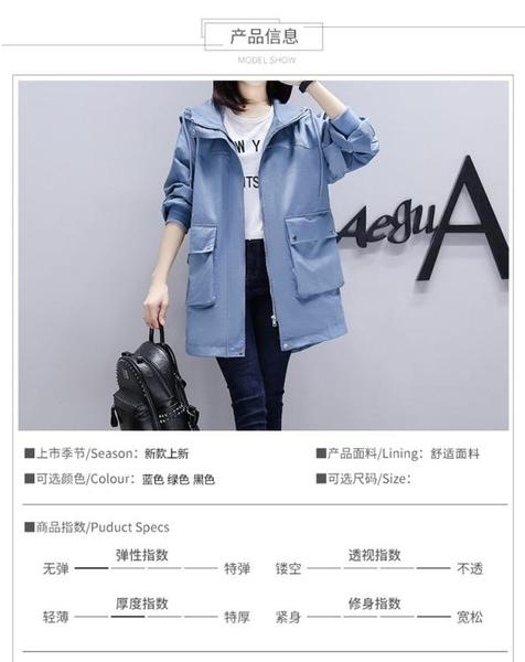 韓版外套 S-3XL 實拍2020秋季新款是長款寬松大碼MM減齡顯瘦款MB068-A 依品國際