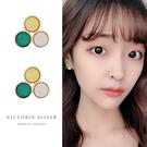925純銀針  韓國優雅氣質 簡單時尚風格 耳環-維多利亞190811