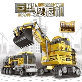 積木玩具 巨型挖掘機微顆粒積木拼裝【聚寶屋】