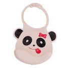 【佳兒園婦幼館】Creative Baby 可收納式攜帶防水無毒矽膠學習圍兜-可愛熊貓