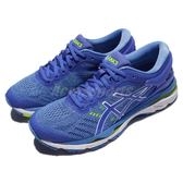 【六折特賣】Asics 慢跑鞋 Gel-Kayano 24 藍 白 運動鞋 女鞋 輕量穩定 【PUMP306】 T799N4840