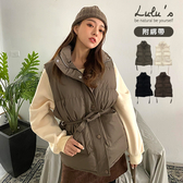 LULUS-Y鋪棉立領背心-附綁帶-4色  【03190215】