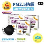 【天天X早安健康-PM2.5防霾口罩 ─ 紫色警戒專用】33入超值組  早安健康聯名