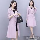 風衣女中長款2020年新款秋季女裝英倫風雙排扣流行外套女韓版寬鬆『新佰數位屋』