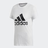 adidas T恤 MH BOS 短Tee 白 黑 女款 運動服 短袖上衣 【ACS】 DZ0013